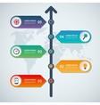 Timeline infographic arrow elements vector image