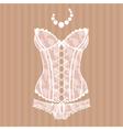 Vintage sexy guipure corset vector image