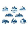 mountain peak icon for outdoor adventure design vector image vector image