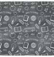 Back to School Chalkboard Pattern vector image