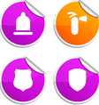 Safety stickers vector image