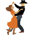Polka dancers vector image