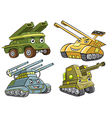A group of tank cartoon vector image