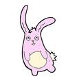 funny comic cartoon rabbit vector image