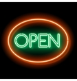Retro Neon sign Open vector image