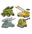 A group of tank cartoon vector image