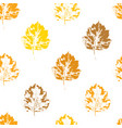 colorful seamless pattern with howthorn leaves vector image