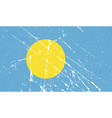 Flag of Palau with old texture vector image