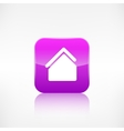 Home icon House symbol Application button vector image