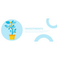 investment banner money tree in a pot home plant vector image