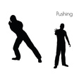 man in Pushing Action pose vector image