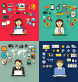 Set of professions Graphic designer accountant vector image