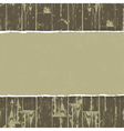 torn paper on wooden background vector image