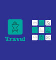 travel line icons for web and mobile thin line vector image