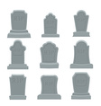 Tomb set Ancient RIP Collection of gravestones vector image
