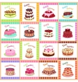 Tasty Celebratory Cakes Seamless Pattern vector image