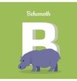 Animals Alphabet Letter - B vector image