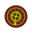 casino gambling roulette icon flat style vector image