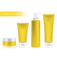 Packaging containers yellow color vector image