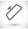 Mirror single icon vector image vector image