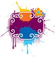 paint splash grunge vector image
