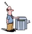 employee copy machine vector image