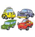 cute cartoon car characters vector image