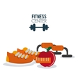 Gym and fitness icons design vector image
