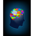 The concept of brain full of ideas vector image
