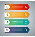Infographic template with 4 steps parts options vector image