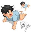 Baby Crawling vector image