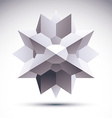Abstract 3D object clear eps 8 vector image