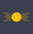 bitcoin digital currency digital money concept vector image