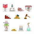 Business and investment isolated cartoon pack vector image