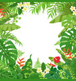 colorful background with tropical plants vector image