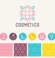 cosmetics logo design element vector image