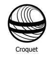 croquet icon simple black style vector image
