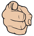hand pointing finger pointing vector image