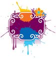 paint splash grunge vector image