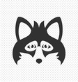 Simple Black Animal Portrait Fox vector image