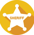 Sheriff Badge Icon vector image vector image