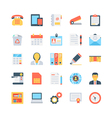 Office and Stationery Icons 1 vector image