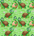 Seamless pattern with cartoon turtles vector image vector image