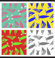 assembly of patterns in oriental style vector image vector image