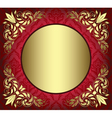 red card with golden decor in the corners vector image vector image