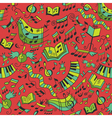 Seamless musical pattern vector image vector image