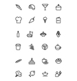 Food Outline Icons 2 vector image