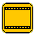 Film strip button vector image vector image