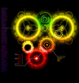 glowing techno gears vector image
