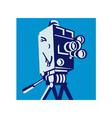 Vintage Film Movie Camera Retro vector image